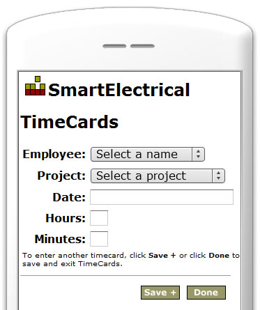 SmartElectrical Time Cards